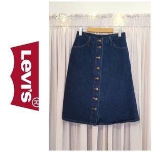 Rare Midi Jean Skirt